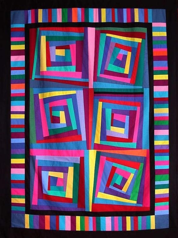 you have to see lopsided log cabin quilt top on craftsy 11 New Crazy Log Cabin Quilt Pattern