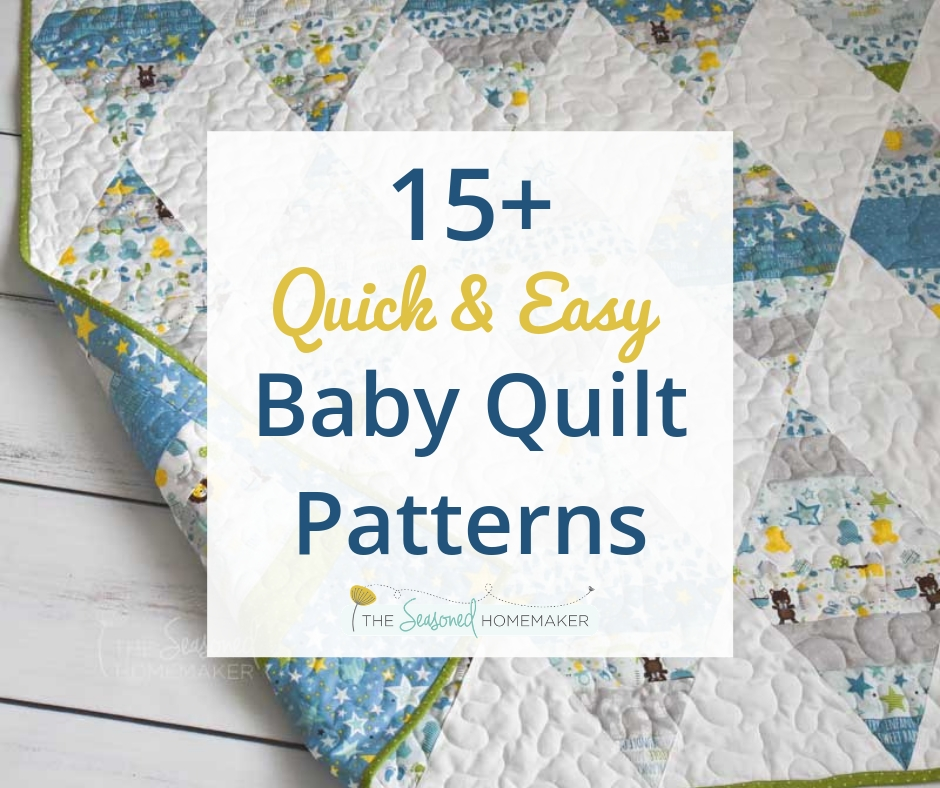 15 free ba quilt patterns the seasoned homemaker 9 Cozy Baby Patchwork Quilt Patterns For Beginners Inspirations
