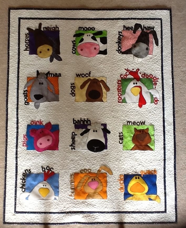 animal whimsy quilt pattern farm quilt animal ba quilt Unique Farm Animal Quilt Patterns Inspirations