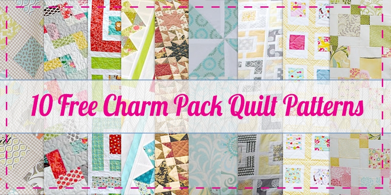 Beautiful 10 free charm pack quilt patterns easy quilt patterns 9 Beautiful Quilt Patterns Using Charm Squares Inspirations