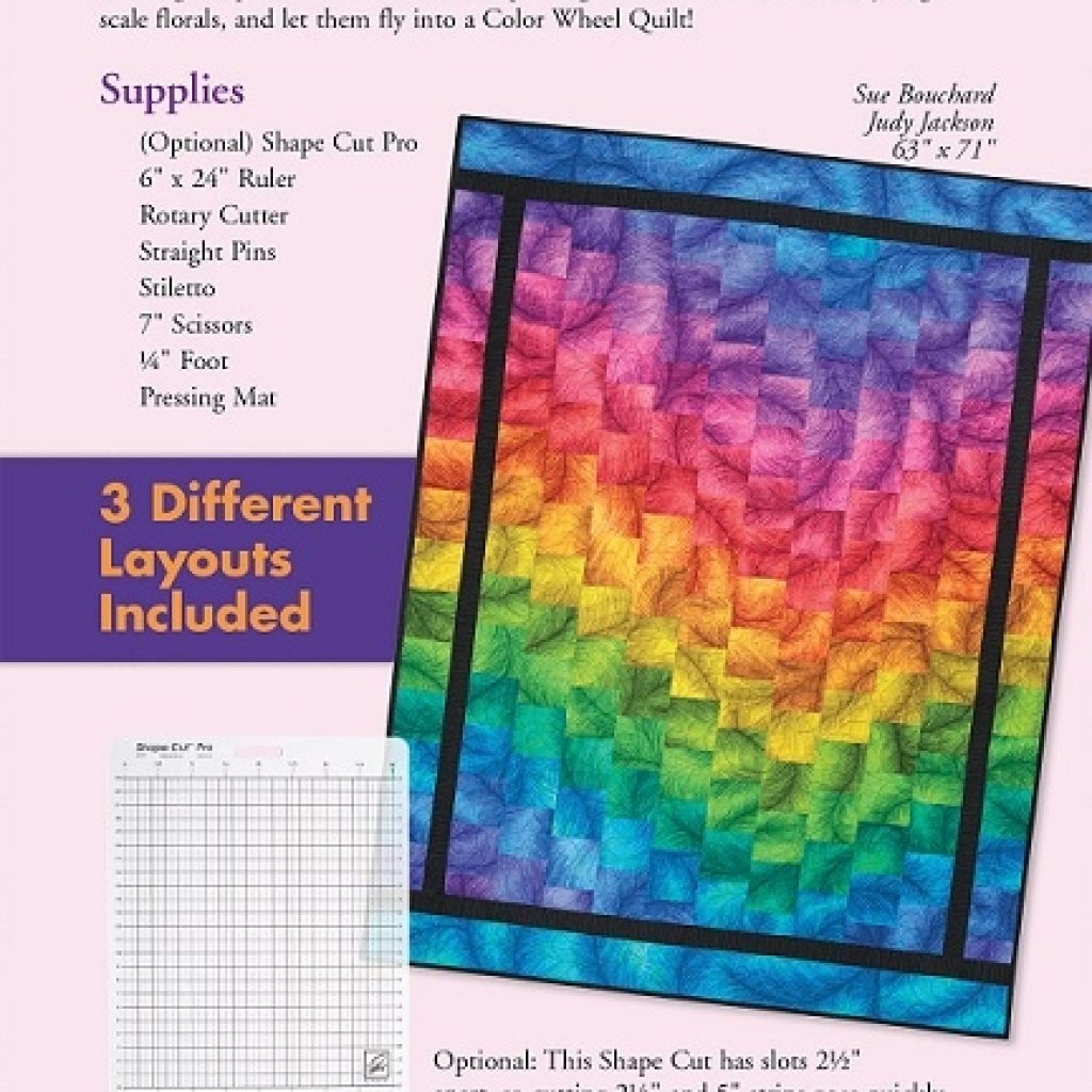Beautiful color wheel quilt eleanor burns signature pattern Color Wheel Quilt Pattern