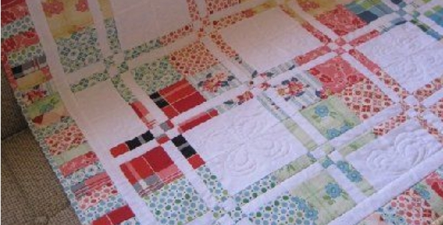 Beautiful disappearing four patch makes the prettiest scrappy quilt Beautiful Four Patch Quilt Patterns