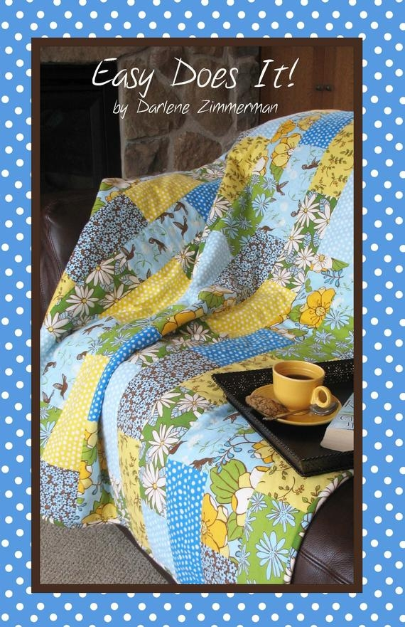 Beautiful easy does it a simple quilt pattern darlene zimmerman perfect for large scale prints or flannels three sizes fat quarter friendly 9 Interesting Hummingbird Quilt Pattern By Darlene Zimmerman