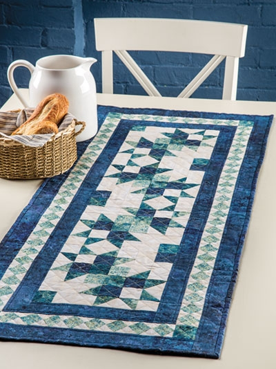 Beautiful exclusively annies quilt designs wave runner table runner pattern 9 Modern Quilt Patterns For Table Runners