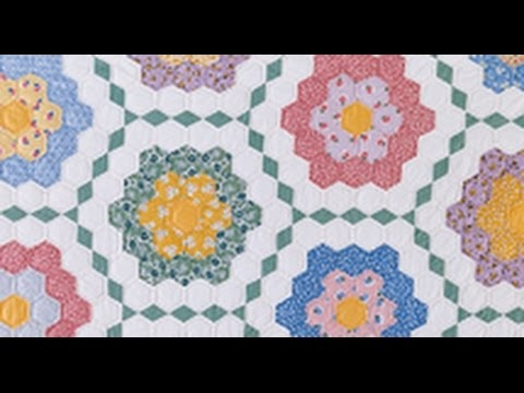 Beautiful grandmothers flower garden Grandma Flower Garden Quilt Pattern