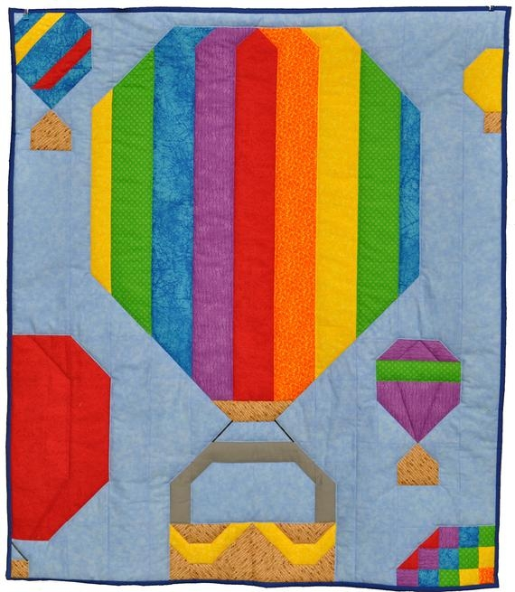 Beautiful hot air balloon quilt pattern etsy 11   Hot Air Balloon Quilt Pattern