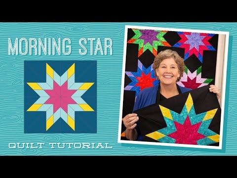 Beautiful make a morning star quilt with jenny doan of missouri star video tutorial 10   Missouri Quilt Block Patterns Gallery