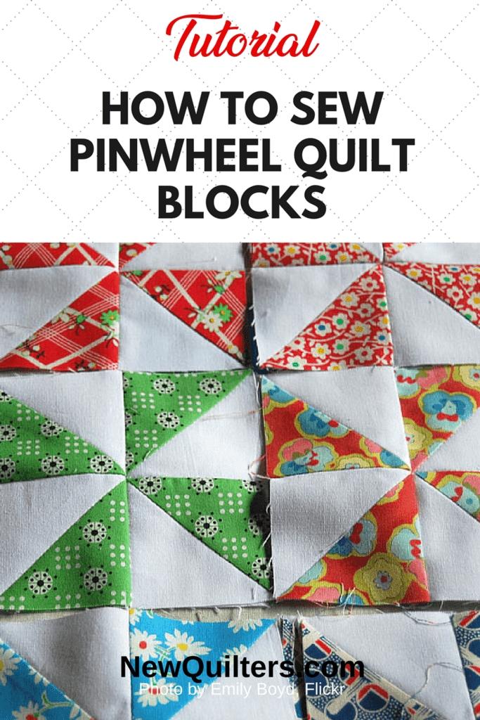 Beautiful pinwheel quilt block tutorial new quilters 9 Unique Pinwheel Quilt Block Pattern Gallery