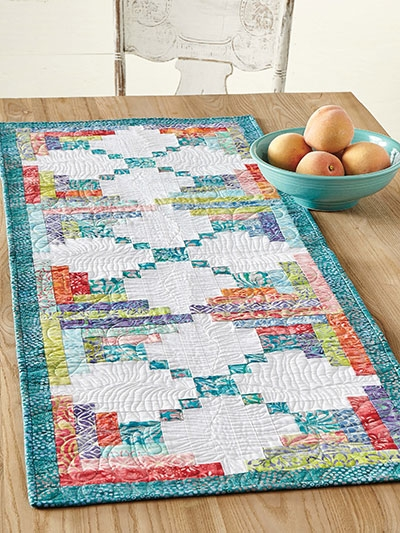 Beautiful quilting leafy logs table runner quilt pattern eq01300 9 Modern Quilt Patterns For Table Runners