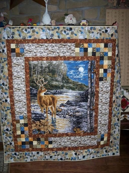 Beautiful retreat project finished wildlife quilts picture quilts 10 Interesting Quilts With Panels