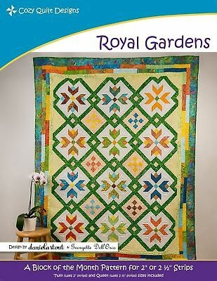 Beautiful royal gardens cozy quilt designs cqd01182 a block of the month pattern bom 738676626735 ebay 10 Unique Cozy Quilt Designs Patterns Gallery