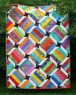 Beautiful scrappy quilt patternfast easy emmas starnewscraps or jelly rolls 422 ebay Cool Easy Scrappy Quilt Patterns Gallery