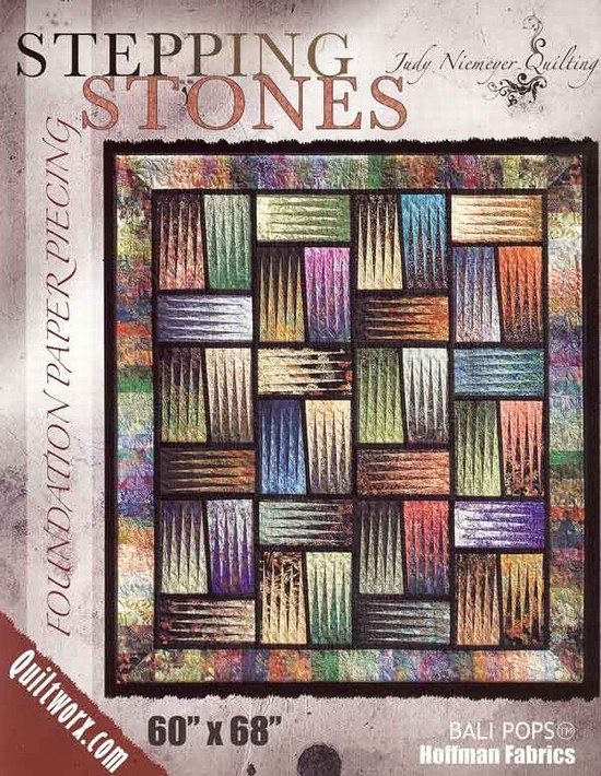 Beautiful stepping stones uses bali pops 10 Unique Bali Pops Quilt Patterns