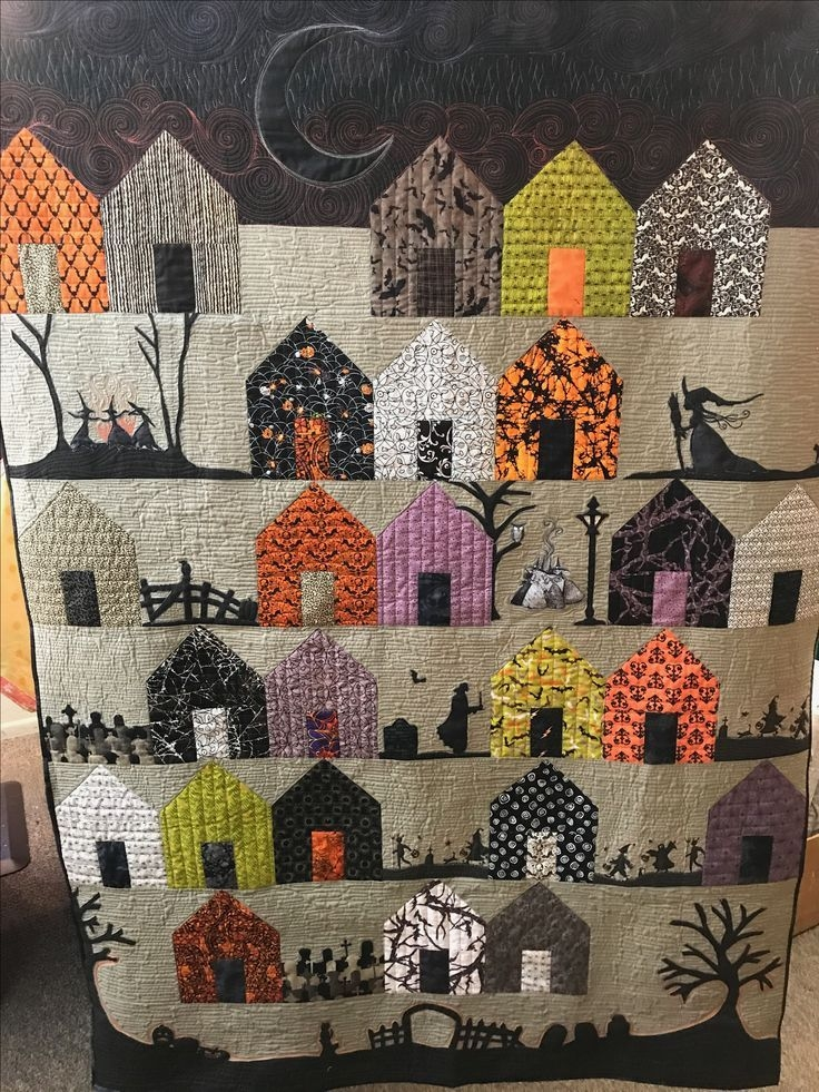 Beautiful suburbs 137 pdf pattern halloween quilt patterns 11 Modern Halloween Quilts Patterns