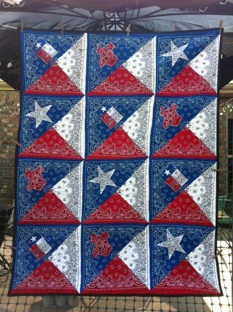 Beautiful texas going away gift patriotic quilts quilts bandana quilt Cozy Texas Flag Quilt Pattern Gallery