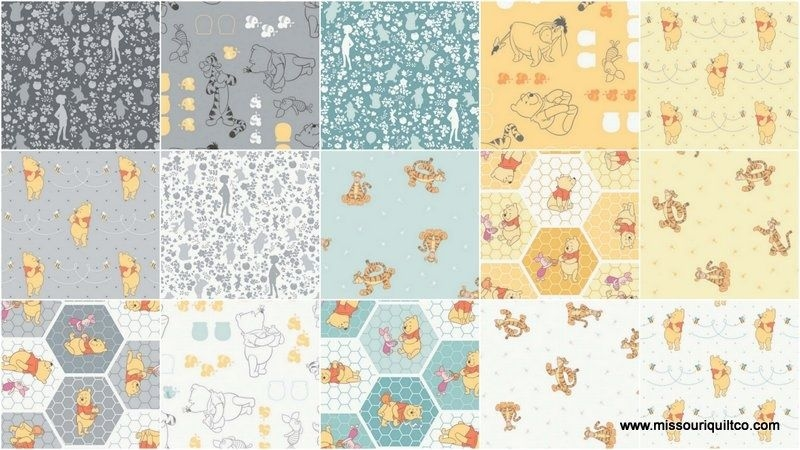 Beautiful todays quilter daily deal missouri star quilt co 9 Elegant Winnie The Pooh Quilting Fabric Gallery