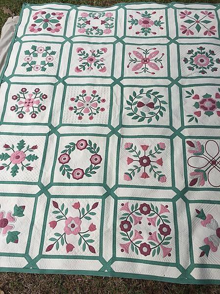 Beautiful vintage applique quilt quilting for bernice ingrid whitcher Cool Antique Applique Quilt Patterns