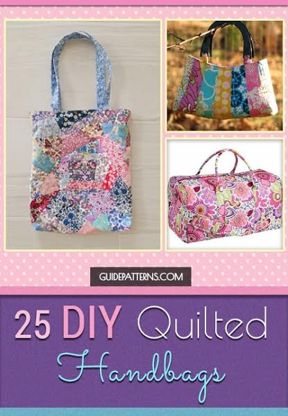 Cool 25 diy quilted handbags guide patterns 9 Cozy Quilted Tote Bag Patterns Gallery