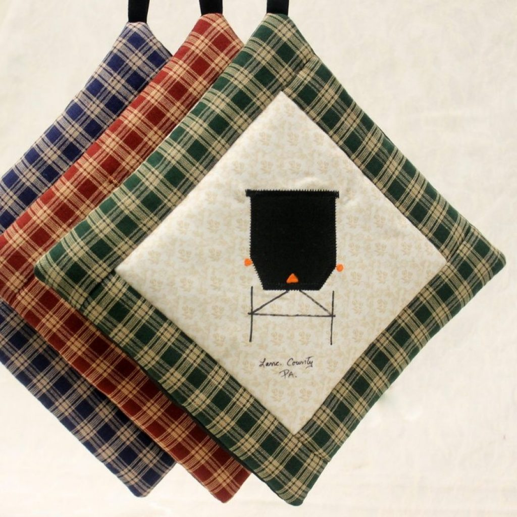 Cool amish buggy potholder family farm handcrafts handmade 9 Cozy Amish Quilted Pot Holders For Sale Inspirations
