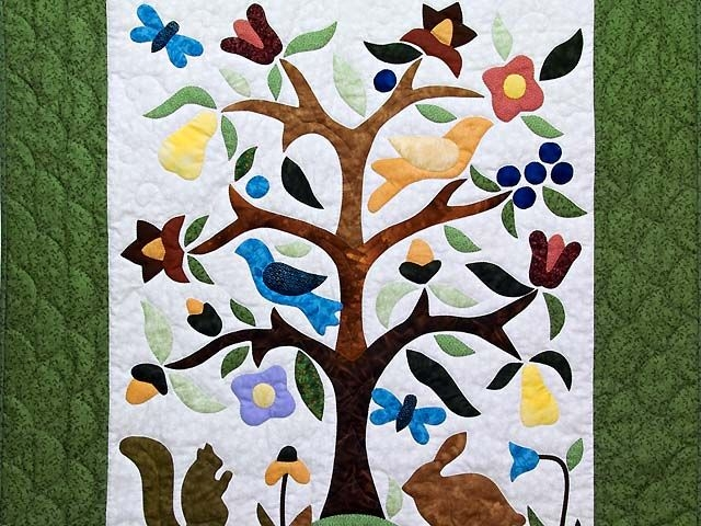 Cool applique tree of life wall hanging lancaster select quilts 10 Unique Tree Of Life Quilt Pattern Applique Gallery