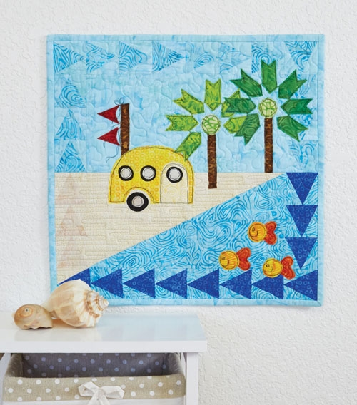 Cool beach bum vintage camper quilt pattern download Cool Beach Themed Quilt Patterns