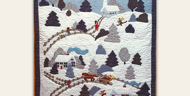 Cool create a quilted winter wonderland quilting digest 11 Cool Winter Wonderland Quilt Pattern