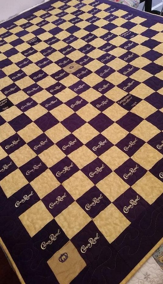 Cool crown royal quilt custom made to order crown royal quilt 10 Elegant Crown Royal Quilt Pattern Inspirations