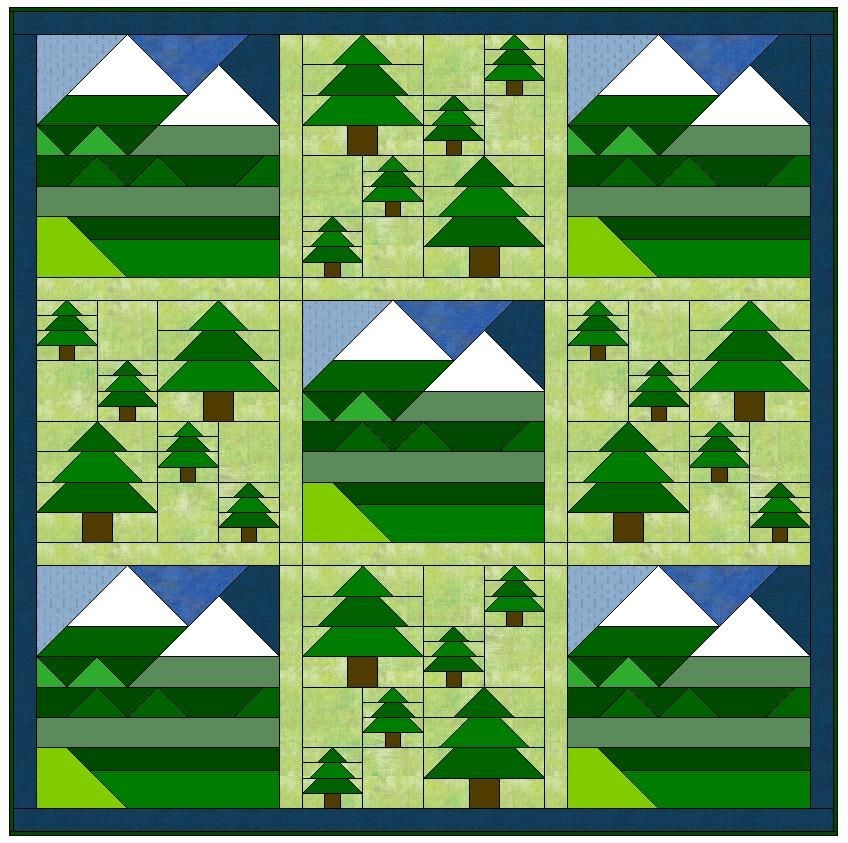 Cool elevation quilt free earth day pattern aqs blog tree 11 Unique Tree Quilt Block Pattern