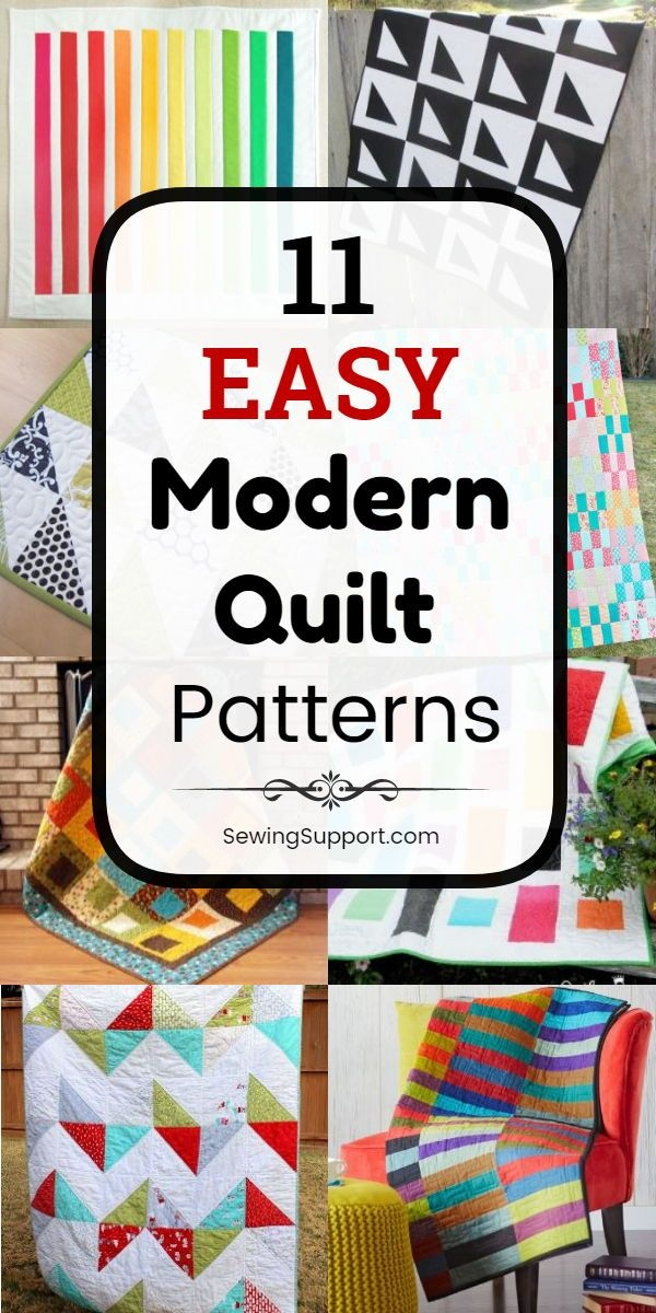 Cool free quilt patterns for easy modern quilts eleven free 11 Modern Easy Modern Quilt Patterns