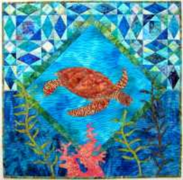 Cool hawaiian quilt patterns hawaiian quilts kits from quilt 10   Hawaiian Sea Turtle Quilt Patterns