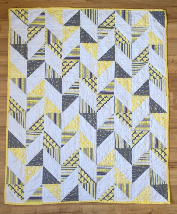 Cool herringbone half square triangle ba quilt quilts half Beautiful Half Square Triangle Quilt Blocks