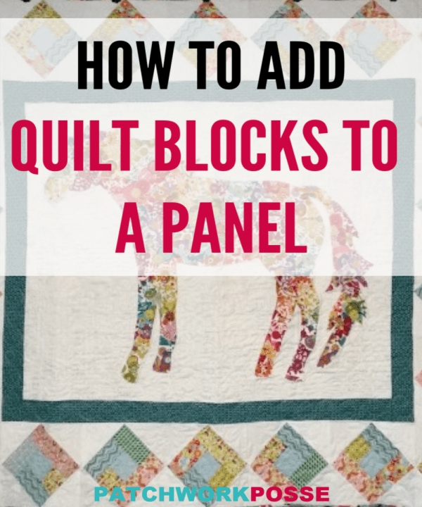 Cool horse quilt tutorial 10 Modern Quilt Patterns With Panels