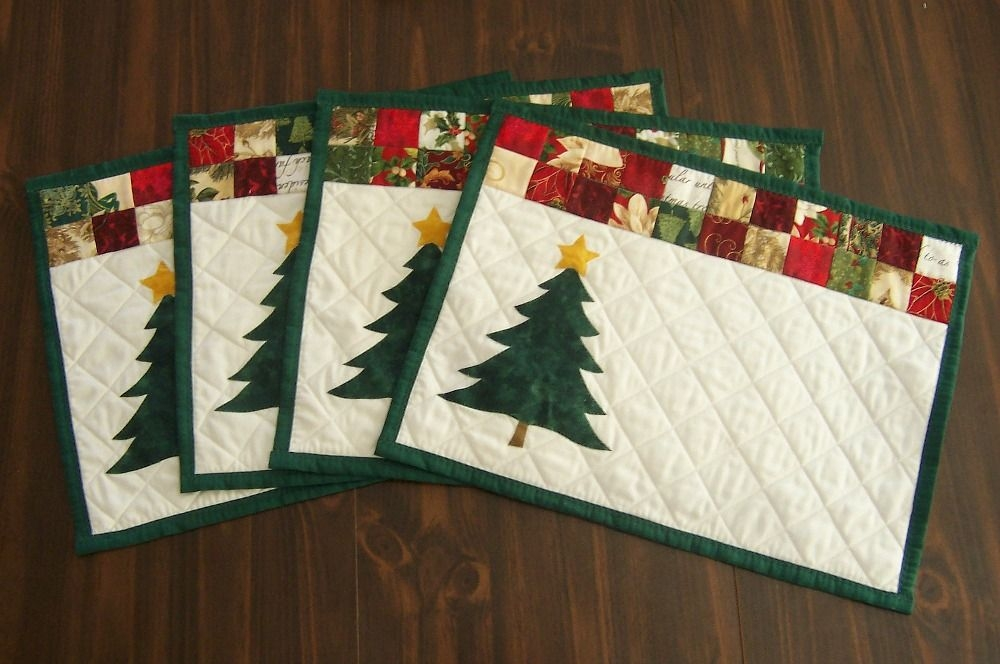 Cool janes quilting christmas placemats christmas patchwork 9 Unique Quilted Christmas Placemat Patterns Free Inspirations