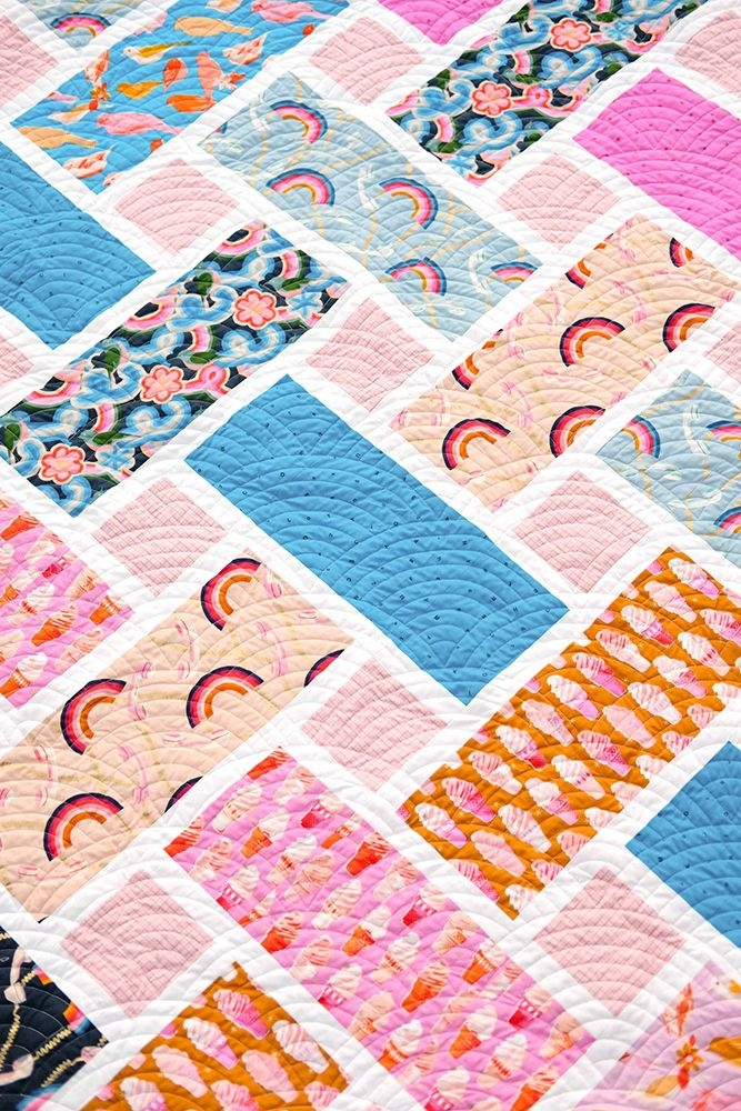 Cool kitchen table quilting sewing pattern the tessa quilt Cozy Quilting Sewing Patterns Inspirations