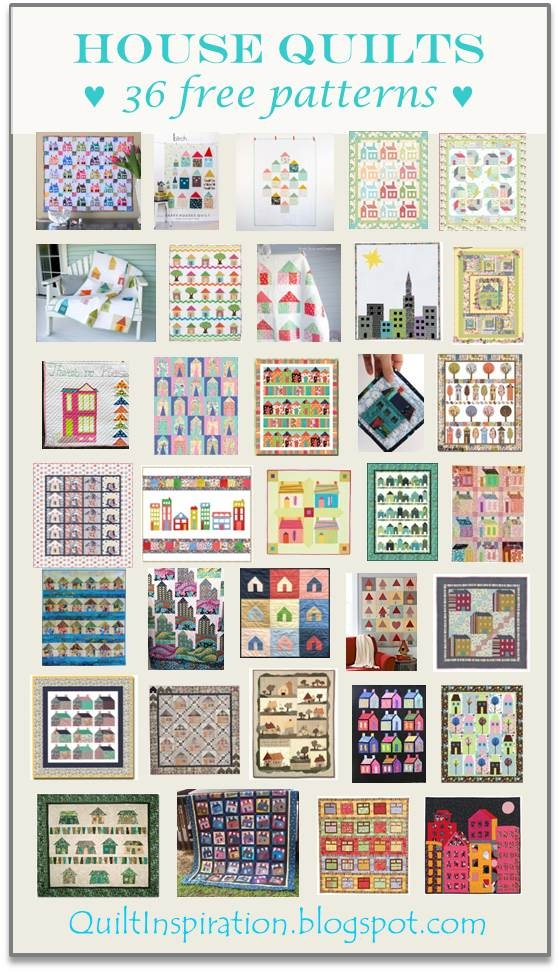 Cool quilt inspiration free pattern day house quilts 9 Unique House Quilt Block Patterns
