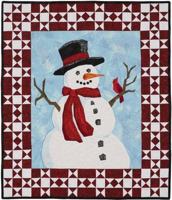 Cool snowman quilt patterns not just for the holidays 11 Stylish Snowman Quilt Pictures