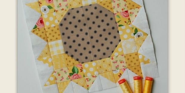 Cool this pretty sunflower block can be used many ways quilting 9   Sunflower Quilt Block Pattern