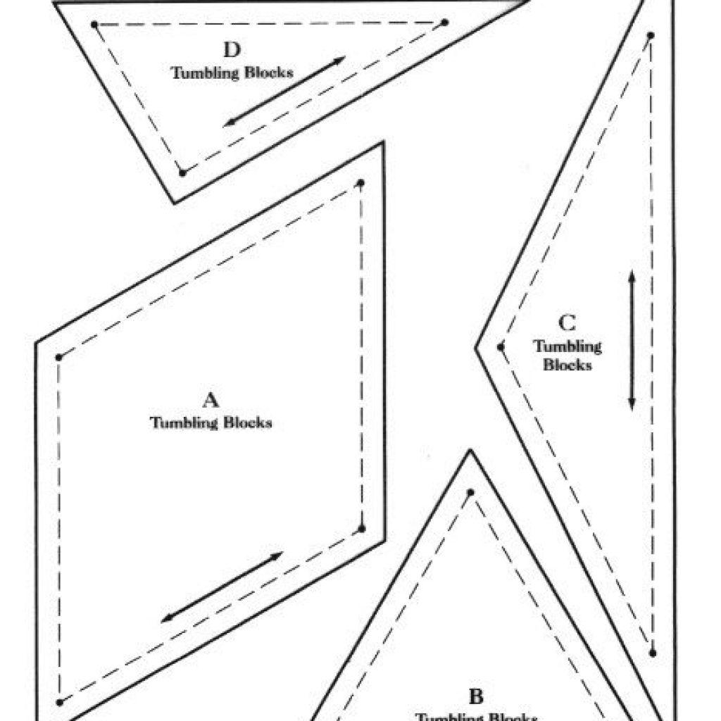 Cool tumbling blocks quilt block patterns free tumbling blocks 11 Elegant Tumbling Blocks Quilt Pattern Template Gallery