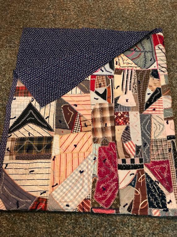 Cool vintage crazy quilt Modern Vintage Crazy Quilt Inspirations