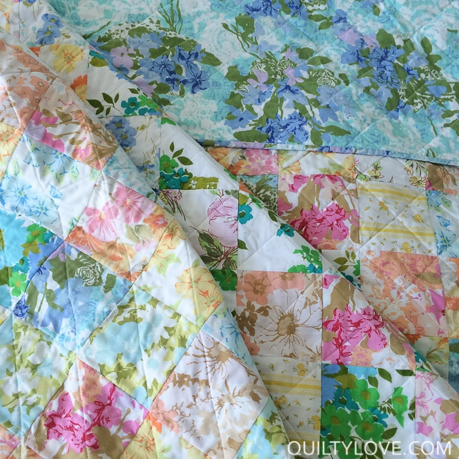 Cool vintage sheets quilt take one quilty love Unique Vintage Sheet Quilt Gallery