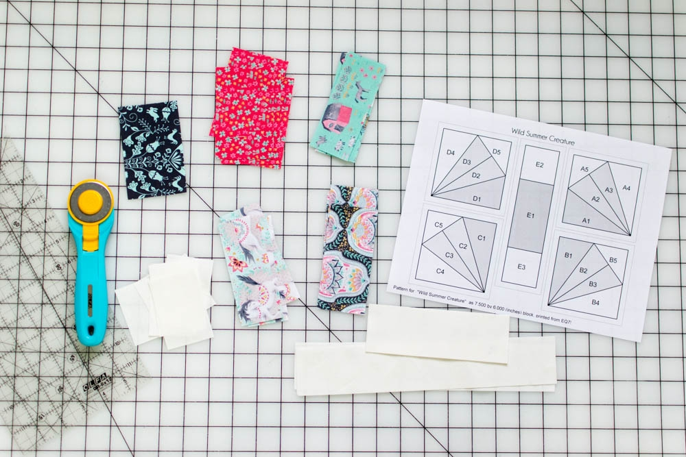 Cool wild summer creature easy paper piecing tutorial for a 11 Unique Foundation Piecing Quilt Patterns Inspirations