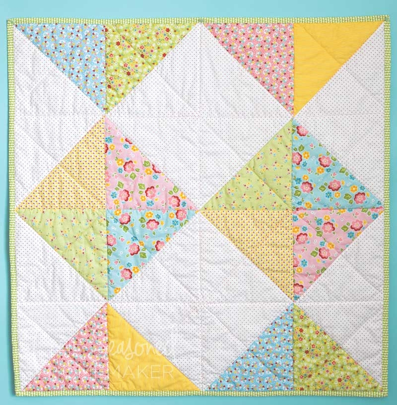 Cozy 15 free ba quilt patterns the seasoned homemaker 9 Modern Triangle Quilt Patterns For Beginners Inspirations