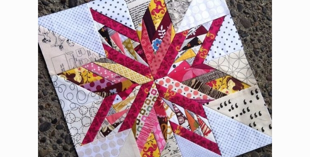 Cozy a scrappy snowflake star using a mix of two fabulous paper Interesting Wombat Siouxsie Quilts Paper Piecing Patterns Inspirations
