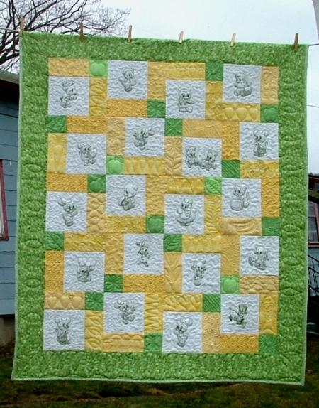 Cozy ba animals children quilt advanced embroidery designs 9 Stylish Embroidery Patterns For Quilts Gallery