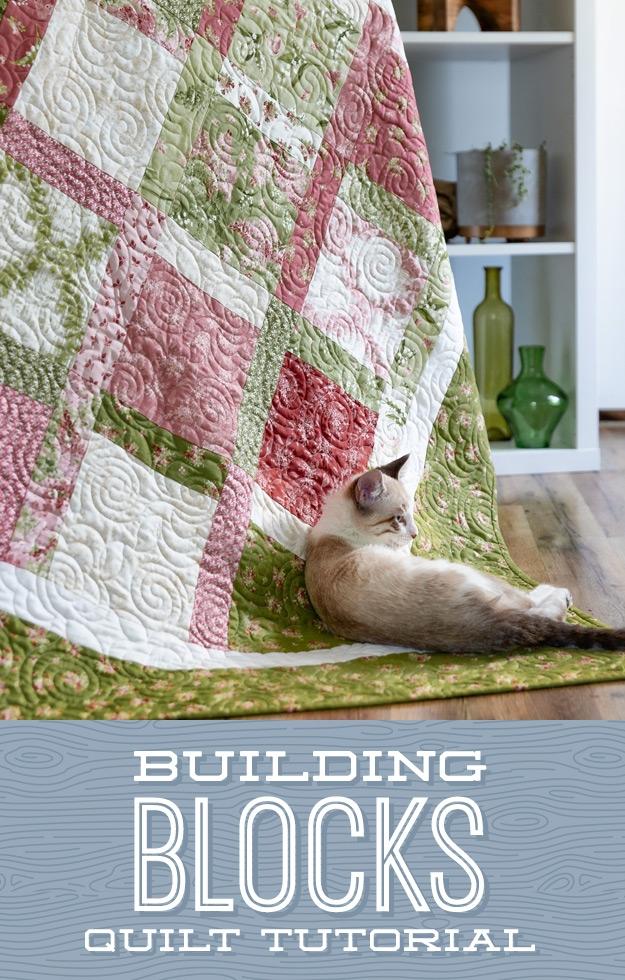 Cozy building blocks quilt missouri star blog 10 Unique Building Block Quilt Pattern Inspirations