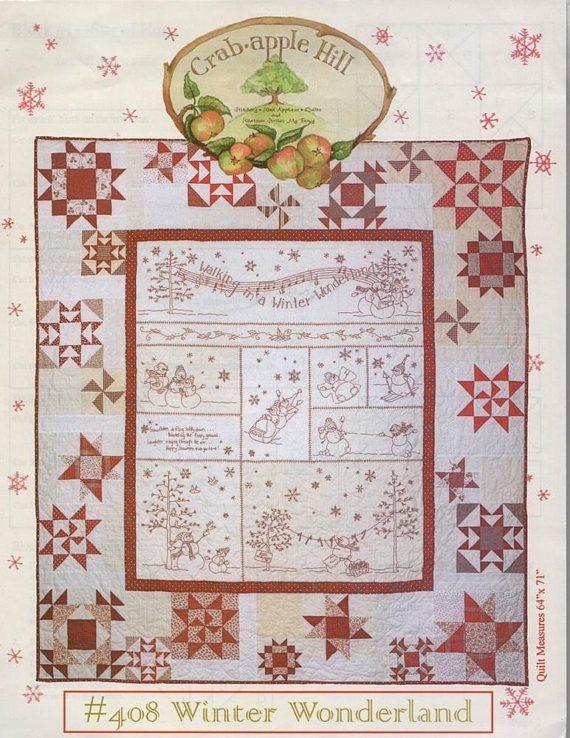 Cozy crabapple hill winter wonderland quilt stitchery pattern ch 11 Cool Winter Wonderland Quilt Pattern