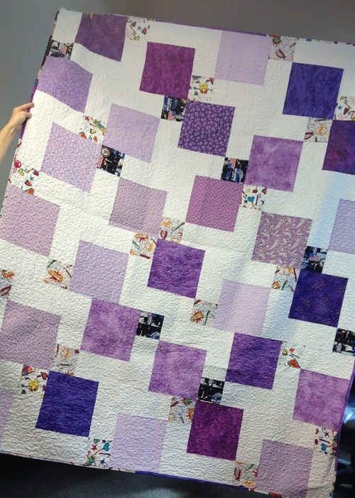 Cozy disappearing 9 patch with layer cakes layer cake quilt 11 Cool Hidden Nine Patch Quilt Pattern