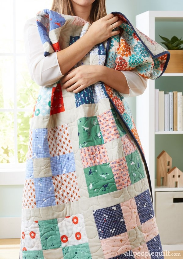 Cozy free fat eighth friendly quilt patterns allpeoplequilt 9 Modern Quilt Patterns Using Fat Eighths