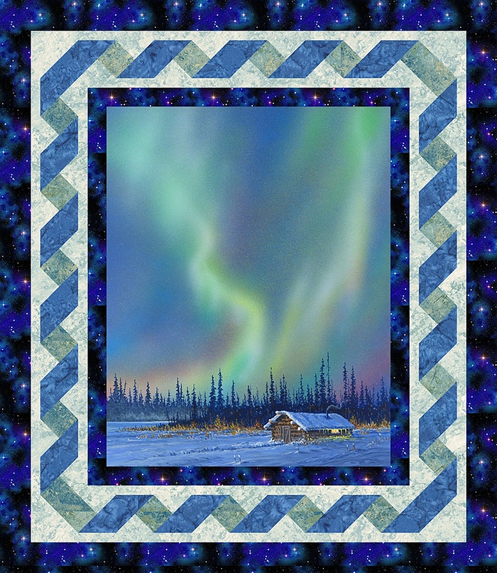 Cozy free pattern alaskas northern lights equilter 10 New Northern Lights Quilt Pattern