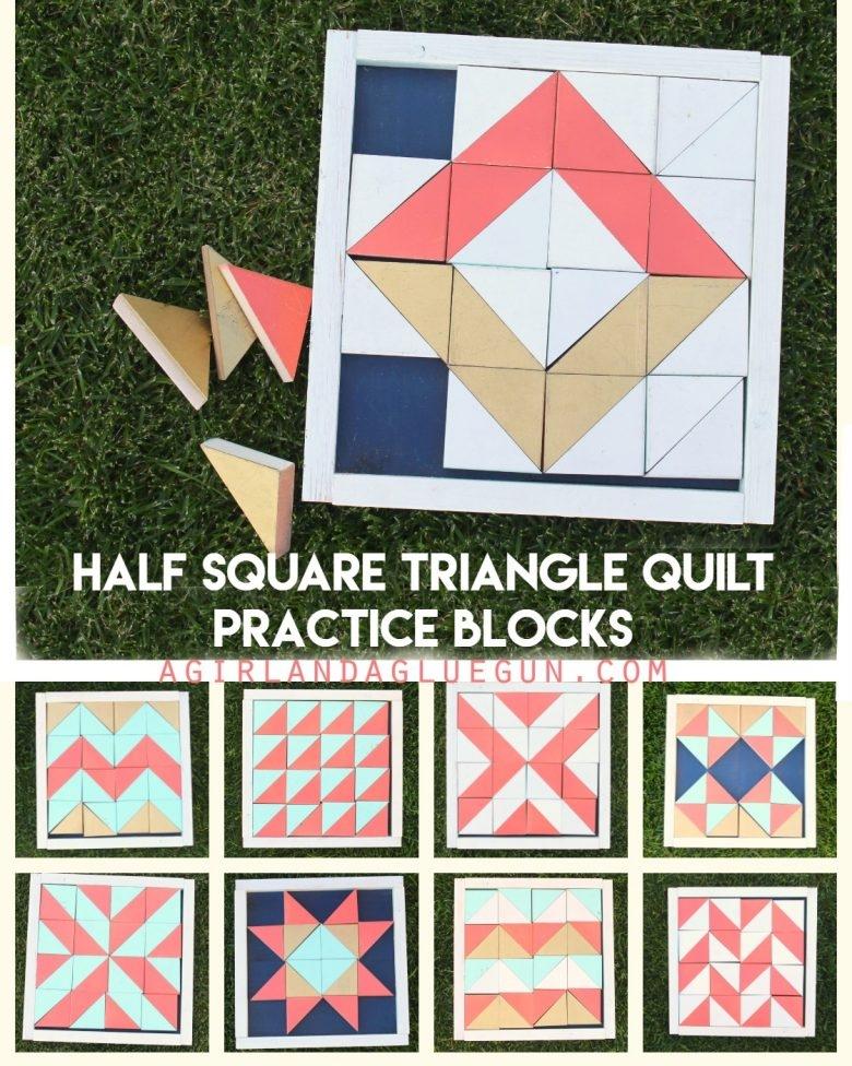 Cozy half square triangle quilt practice blocks a girl and a Beautiful Half Square Triangle Quilt Blocks